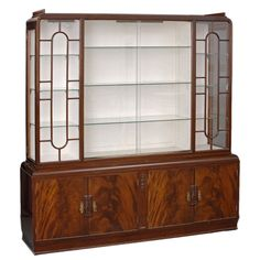 English Art Deco Display Cabinet