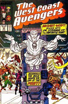 West Coast Avengers Vol. 2 # 22 by Al Milgrom & Joe Sinnott