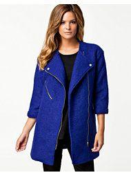 Cobalt Zip Coat