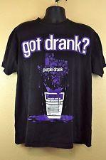 H Town Texas Shirt Got Drank Syrup Lean XL Black Purple Tee 220d59b65