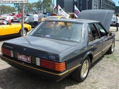 Ford Fairmont Ghia XE ESP Charcoal Ford Range, Australian Muscle Cars, Old Skool, Charcoal, Fat, Running