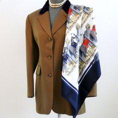 Authentic Vintage Hermes Silk Scarf Ecuries Hugo Grygkar Re-issue with – Carre de Paris