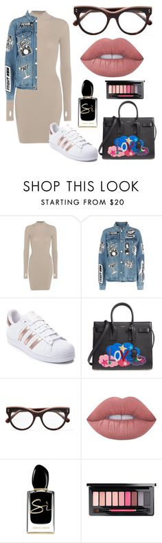 """Untitled #170"" by jasminetzuberi on Polyvore featuring adidas Originals, Frame, adidas, Yves Saint Laurent, STELLA McCARTNEY, Lime Crime, Giorgio Armani and MAC Cosmetics"
