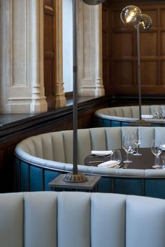 Image result for banquettes seating with lighting