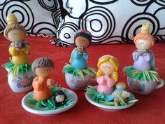 Nacimientos de tazas miniaturas
