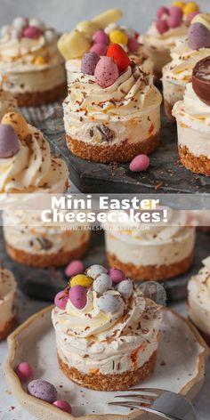 Mini Dessert Recipes, Easter Recipes, Mini Desserts, Sweet Recipes, Delicious Desserts, Easter Baking Ideas, Easter Desserts, Frozen Desserts, Cupcake Recipes