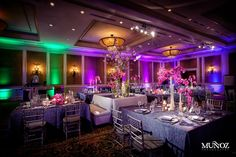 Flowers table cloths booths lighting