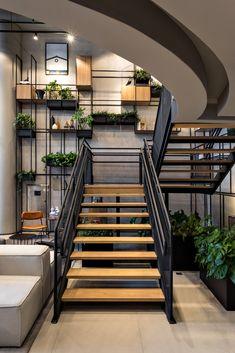 Gallery of Ibis hotels - New concept / FGMF Arquitetos - 11 Restaurant Interior Design, Home Interior Design, Interior Architecture, Interior And Exterior, Home Stairs Design, Dream Home Design, House Design, Photo Deco, Urban Apartment