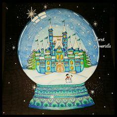 #johannabasford #johanna'schristmas #prismacolor #sharpie #coloring #coloringbook #thenetherlands #coloringbooksforadults #snowglobe #castle #pencil #art #colors #colorfull #colorful #pencils #coloringpencils colored by mariella