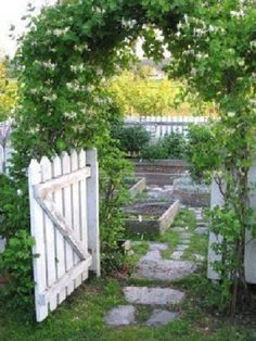 raised garden & gate
