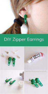 How to make Zipper Earrings || Super easy DIY earrings!