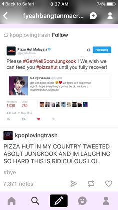 I saw this tweet and I retweeted it because it was awesome and I love Pizza Hut just because of this