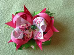 Strawberry Shortcake Bow 2 by BlessedBabyBoutique7 on Etsy, $5.00