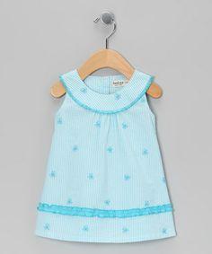 Blue Butterfly Yoke Dress - Infant & Toddler
