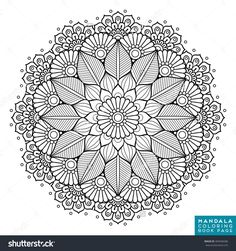 Mandala, Vector Mandala, Floral Mandala, Flower Mandala, Oriental Mandala, Coloring Mandala, Book Page Mandala, Outline Mandala, Template Mandala - 483048286 : Shutterstock