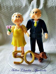 topo de bolo bodas de ouro