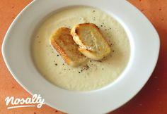 Almás zellerkrémleves | Nosalty Gazpacho, Hummus, Breakfast, Ethnic Recipes, Soups, Drinks, Fimo, Whipped Cream, Roast