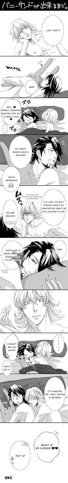 Tiger  Bunny ~~ The hugging pillow war :: Kotetsu x Barnaby