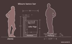 misure per costruire banco bar 2 Mocktail Bar, Bar Station, Bar Interior Design, Kitchen Pantry Design, Kiosk Design, Mobile Bar, Coffee Shop Design, My Bar, Club Design