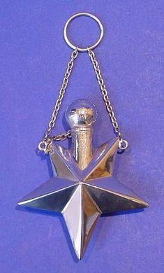 """Victorian Antique Silver """"Star"""" Scent Bottle - Daniel Bexfield Antiques."""