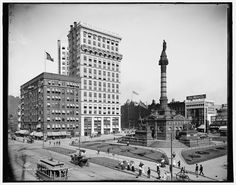 Downtown Cleveland photographed in 1900 by the Detroit Publishing Company on 8x10 glass plate negative.