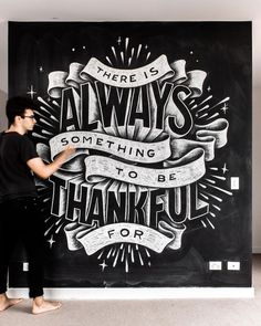 Lettering with Chalk on a Wall has always been one of my passion projects. Chalkboard Typography, Blackboard Art, Chalk Lettering, Chalkboard Designs, Creative Lettering, Typography Quotes, Typography Letters, Lettering Design, Chalkboard Art Quotes