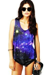 Supernova Graphic Tank Tops - Galaxy Graphic Tank Tops