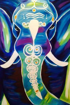 Bohemian yogi elephant  by Artisoof