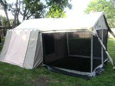 Kodiak Canvas Cabin Tent & Kodiak Canvas 8x8.5 Wall Enclosure for 12x9 Cabin Tent | Hunting ...