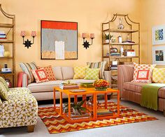 Add burst of color, patterns and springtime motifs to your home décor.