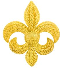 Pre-owned David Webb Massive Fleur-de-Lis Brooch ($16,500) ❤ liked on Polyvore featuring jewelry, brooches, brooch, fleur de lis brooch, fleur de lis jewelry, david webb, 18k jewelry and preowned jewelry