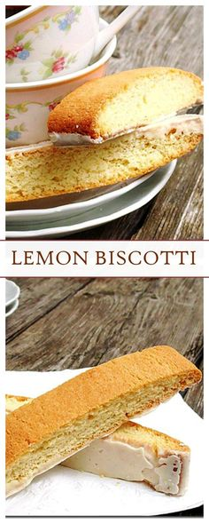 Lemon Biscotti - Delicious lemon-flavored Italian cookies! They are your coffee's best friend!!
