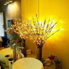 LED Lantern Branch Light Battery Powered Decorative Floral Lights with 20 LEDs for Home Christmas Decoration Party Festival Twig Lights, Lighted Branches, Christmas Tree Branches, Willow Branches, Fairy Lights, New Years Decorations, Christmas Party Decorations, Light Decorations, Glow Party Supplies