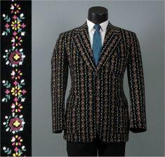 Vintage 1960s Black Vevelteen Mens Jacket  by jauntyrooster, $140.00