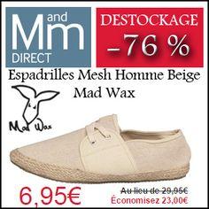 #missbonreduction; Déstockage : économisez 76 % sur les Espadrilles Mesh Homme Beige Mad Wax chez MandMDirect.http://www.miss-bon-reduction.fr//details-bon-reduction-MandMDirect-i853876-c1830273.html