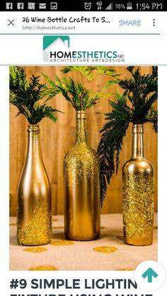 Fancy wine bottle decor
