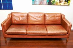2213 Three seater leather sofa by Borge Mogensen - Google Search