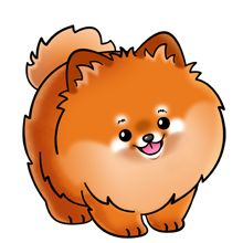 Pomeranian Dog - Lots of clip art on this site
