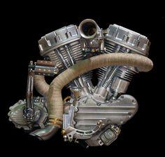 #Harley #Panhead engine