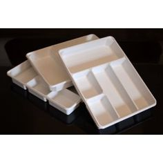 perfect for IKEA Alex - 3-PACK of Organizer Trays for Desk, Utensils, Tools, Crafts, Vanity - 15.7