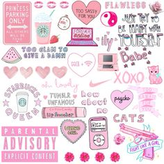 Tumblr Stickers, Phone Stickers, Diy Stickers, Printable Stickers, Planner Stickers, Wallpaper Stickers, Pink Wallpaper, Cute Backgrounds, Cute Wallpapers