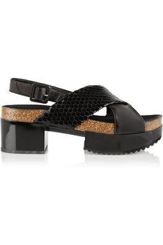 Robert Clergerie|Tessa snake-effect leather sandals(=)