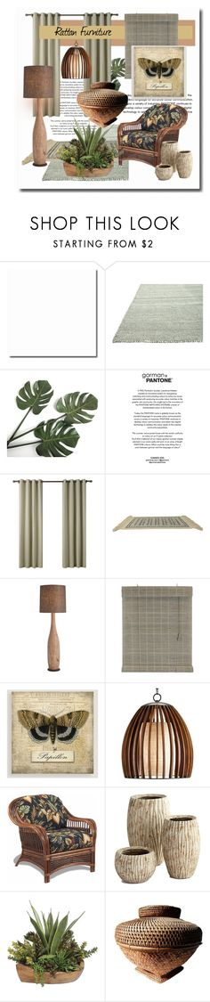 """""""Rattan Interior"""" by gigisstyle ❤ liked on Polyvore featuring interior, interiors, interior design, home, home decor, interior decorating, Karastan, Cost Plus World Market and Cyan Design"""