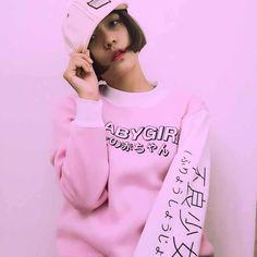 Harajuku Style Women Sweatshirts 2017 New Streetwear Japanese Worlds Printed Long Sleeved Hoodies Casual Pink Black O neck Tops-in Hoodies & Sweatshirts from Women's Clothing & Accessories on Aliexpress.com   Alibaba Group