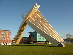 Cradle to Cradle Products Innovation Institute Announces 2015 Product Innovator Award Recipients,Accoya Wood. Image Courtesy of Cradle to Cradle Products Innovation Institute Roof Design, Design Art, Modern Design, Pavilion, Innovation, Awards, Sculpture, Gallery, Building