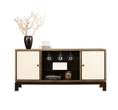 MEDIA CREDENZA from the Montaigne collection by Henredon Furniture | rachelblindauer.com