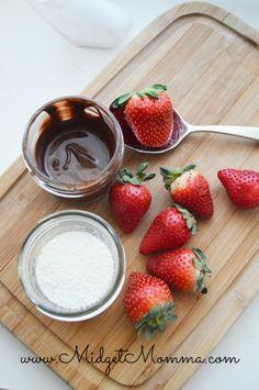 Dark Chocolate and Nonpareil dipped Strawberries
