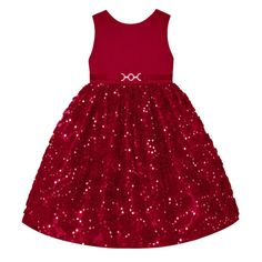 Girls 7-16 & Plus Size American Princess Sequin Soutache Skirt Dress, Size: 12 1/2, Med Red