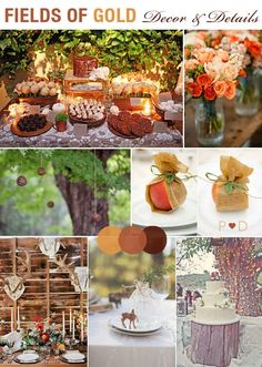 Fields of gold wedding inspiration board...