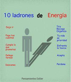 10 ladrones de energía, infografía